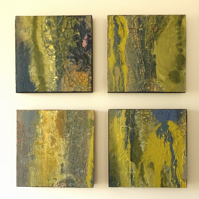 Rivers and streams (4 canvas panels)